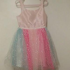 Girls Dress w/ Glitter Detail